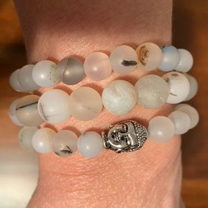 Jewelry - Jasper with Buddha head bracelets set of 3